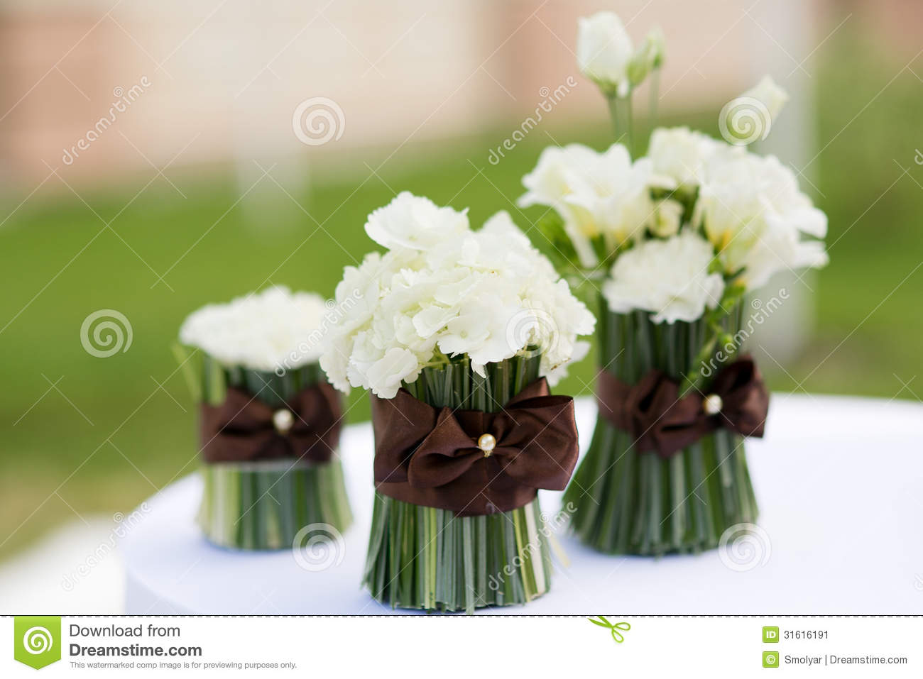 Wedding Ceremony Flowers Decor Stock Image - Image of stylish, white ...