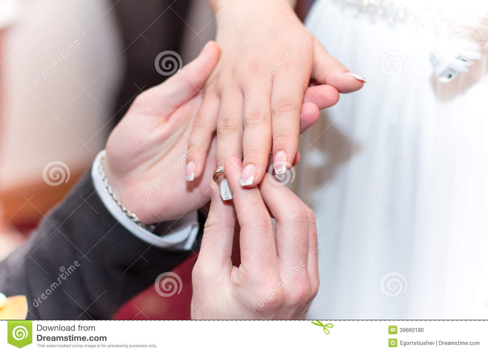 Wedding Ceremony stock photo. Image of finger, marry - 39660180