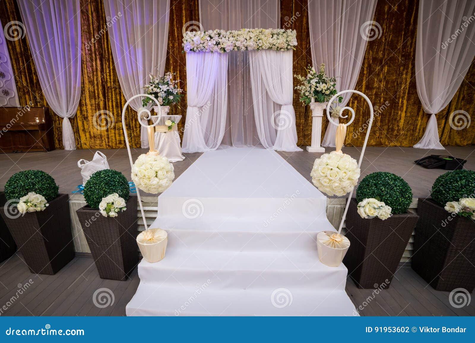 Luxury Wedding Indoor: Indoor Wedding Reception Hall Royalty-Free Stock Image