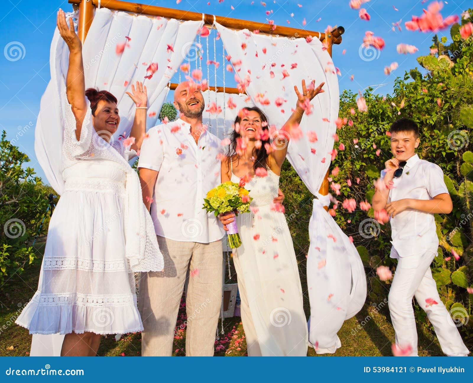 Mature couple wedding photos
