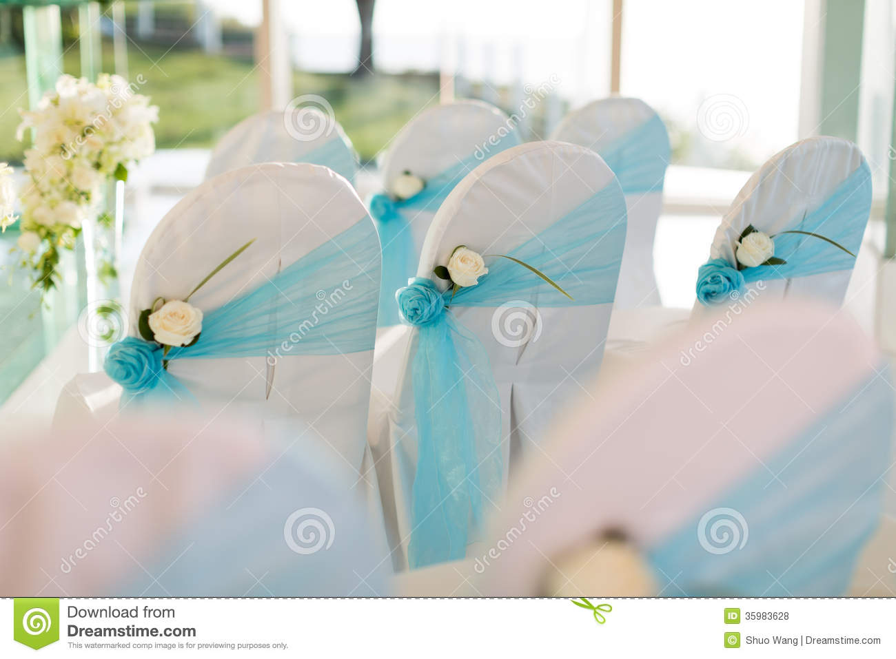 Download Wedding chair stock photo. Image of innocent grass flower - 35983628 & Wedding chair stock photo. Image of innocent grass flower - 35983628