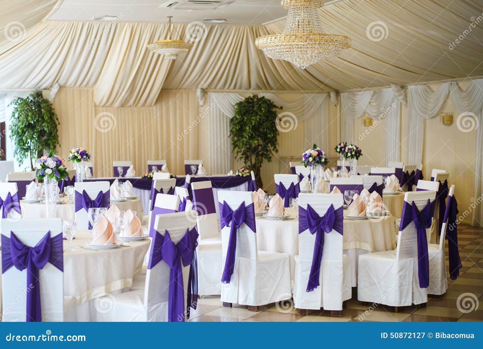 Wedding Chair And Table Setting Stock Image - Image: 50872127