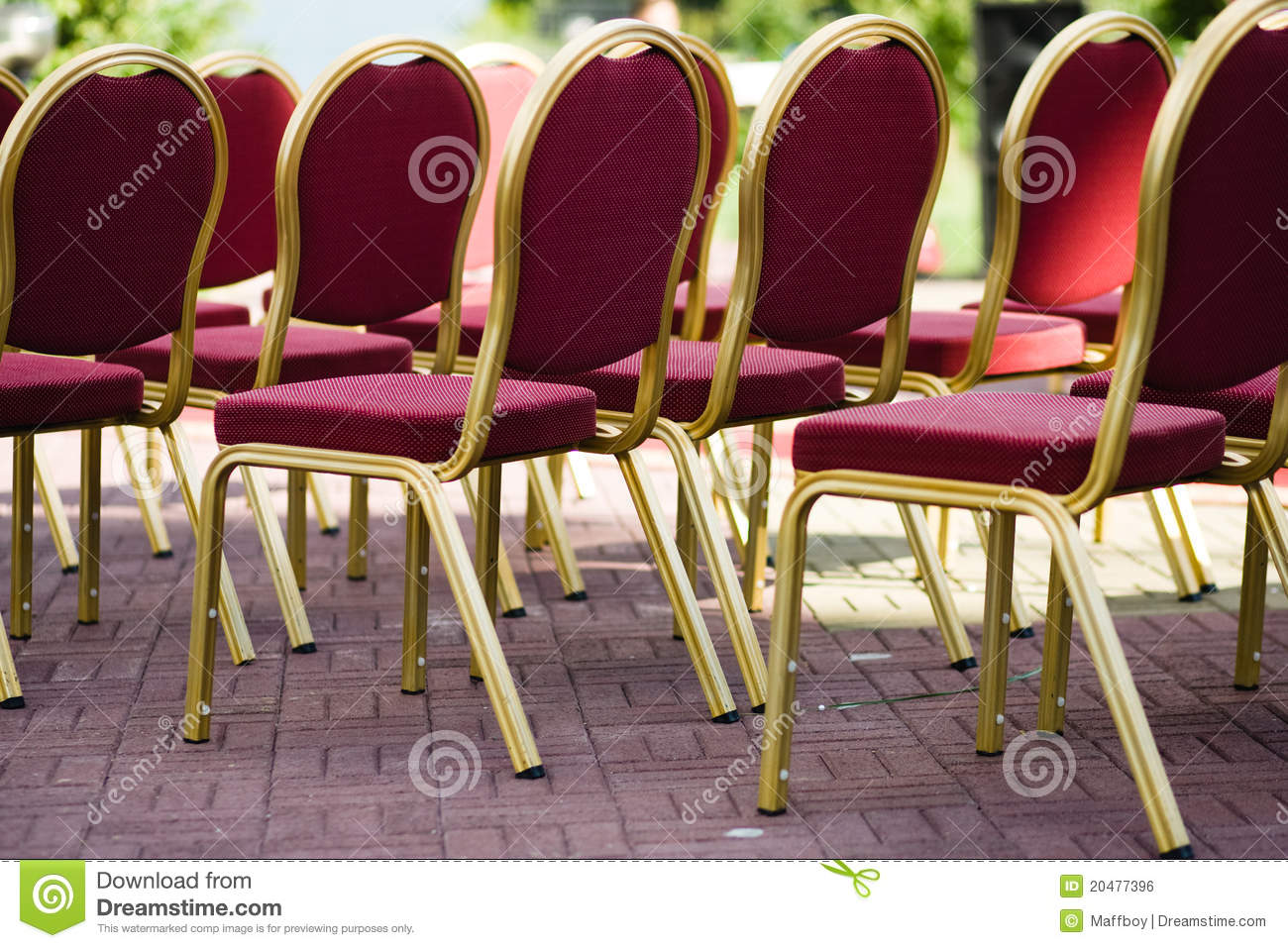 wedding photo covers outdoor at chair and chairs stock picture an