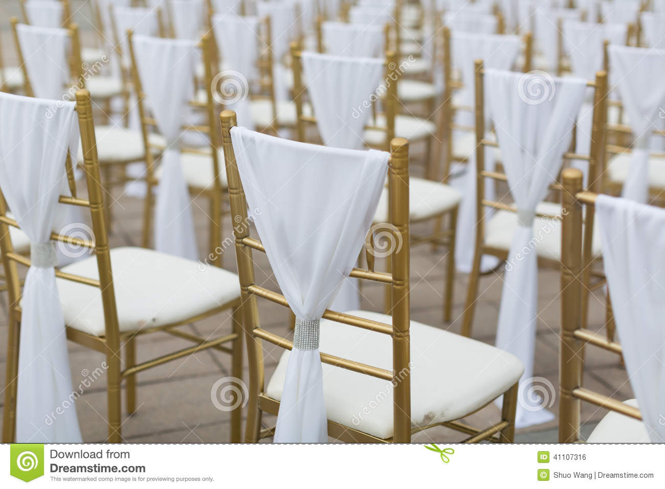 Download Wedding chairs stock photo. Image of golden, holiday - 41107316