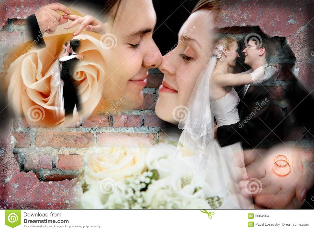 Wedding Collage Stock Images - Image: 5004904