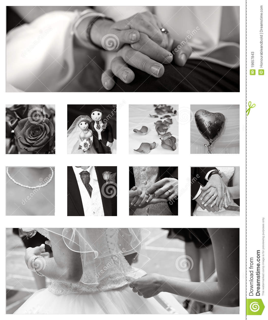 wedding collage background collection