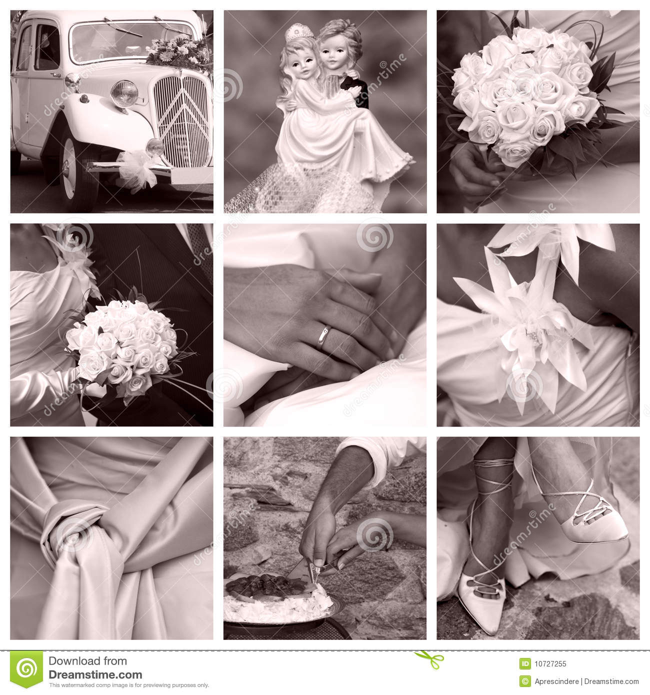 Wedding concept - collage