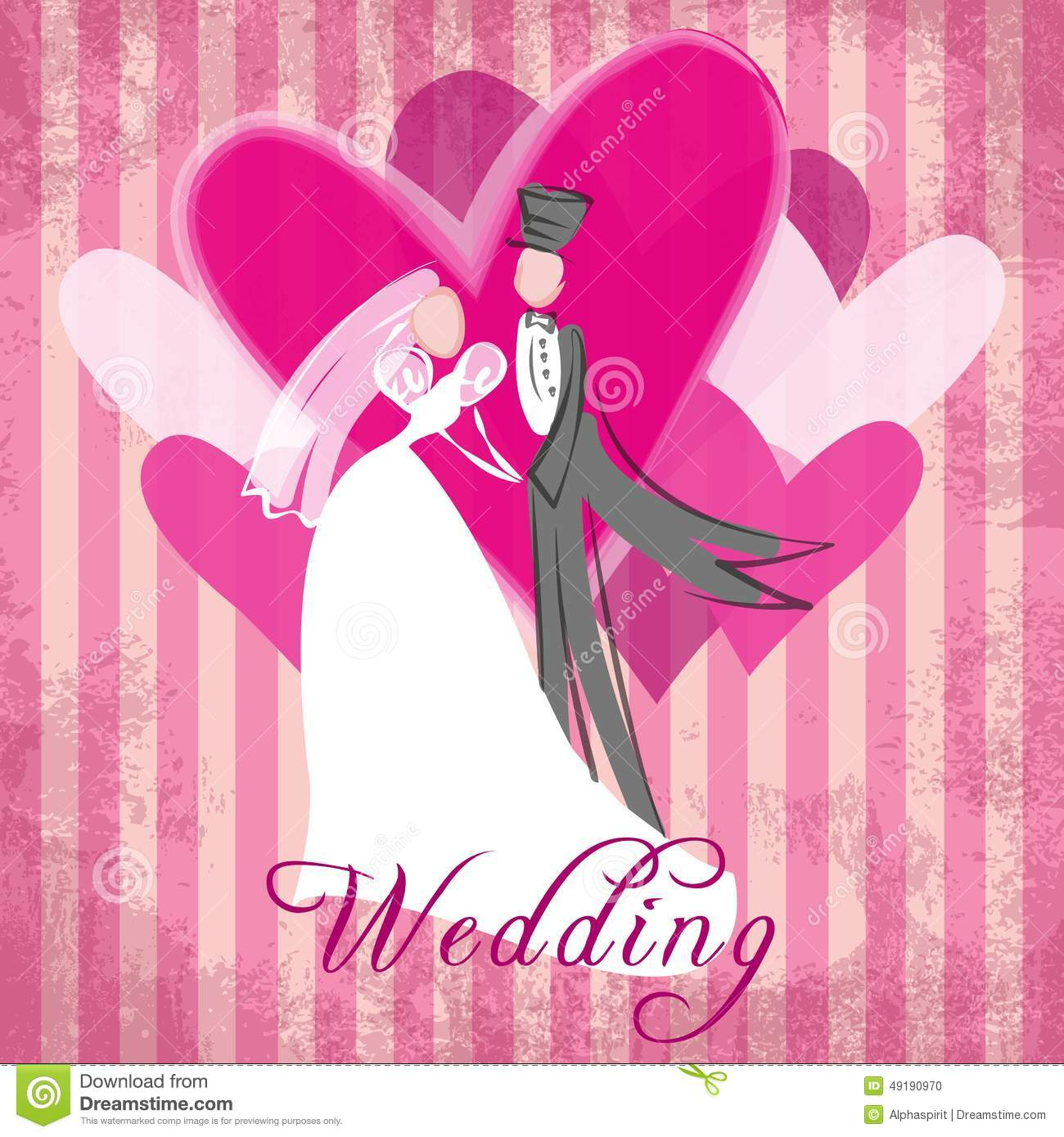 Wedding congratulation stock vector image 49190970