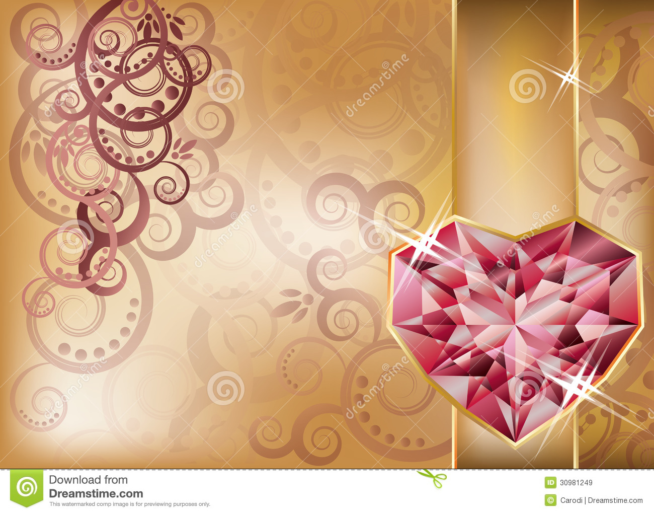 Wedding Congratulation Card Royalty Free Stock Images