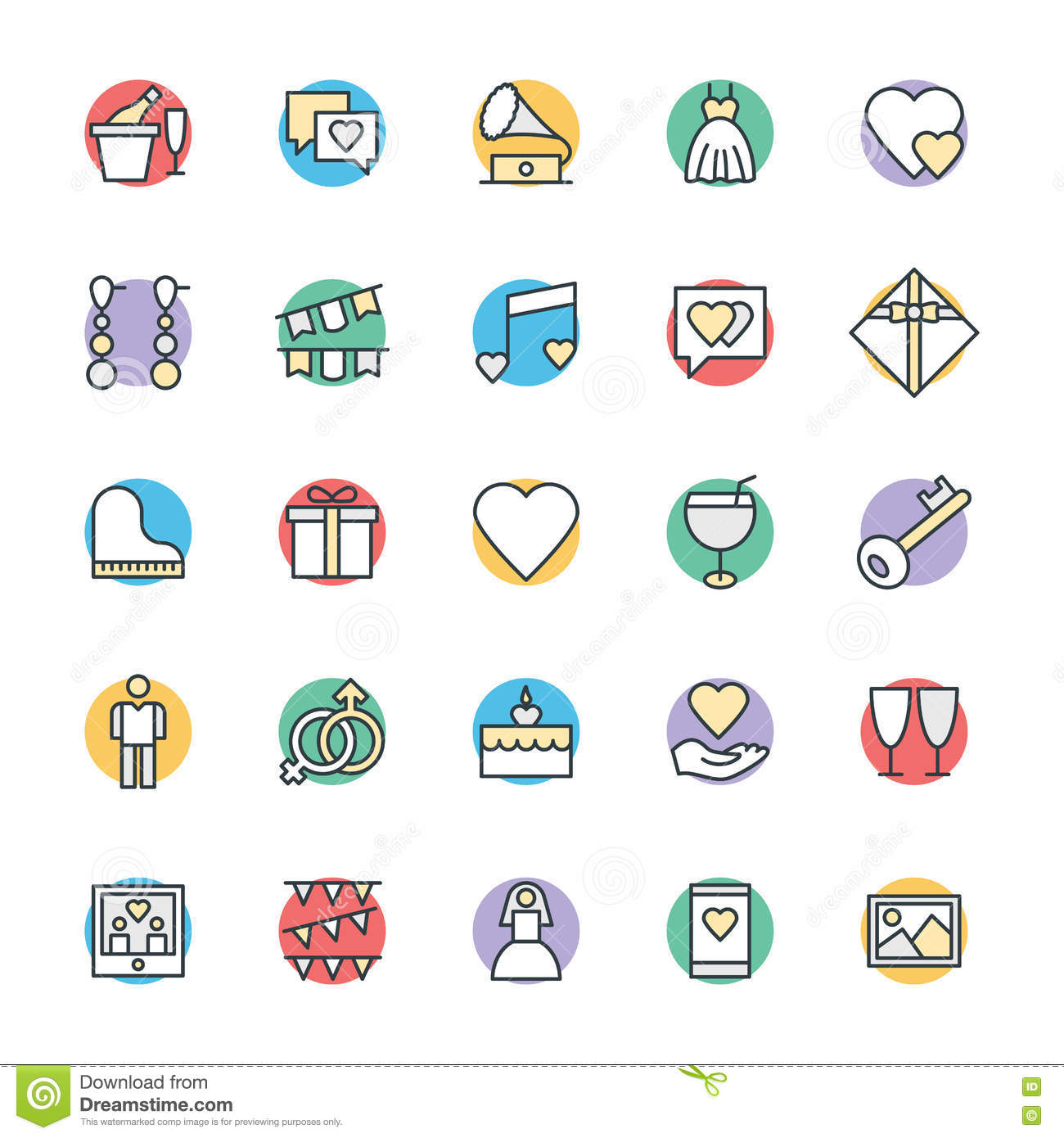 Wedding Cool Vector Icons 2 Stock Illustration
