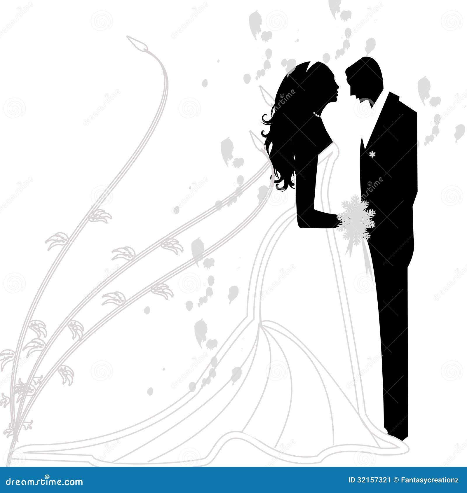 Wedding couple stock vector illustration of couple black 32157321 - Photo de mariage couple ...