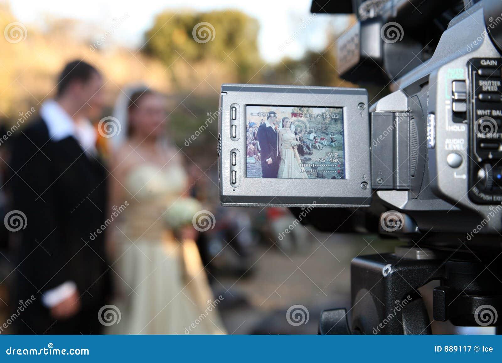 Wedding Couple on camera