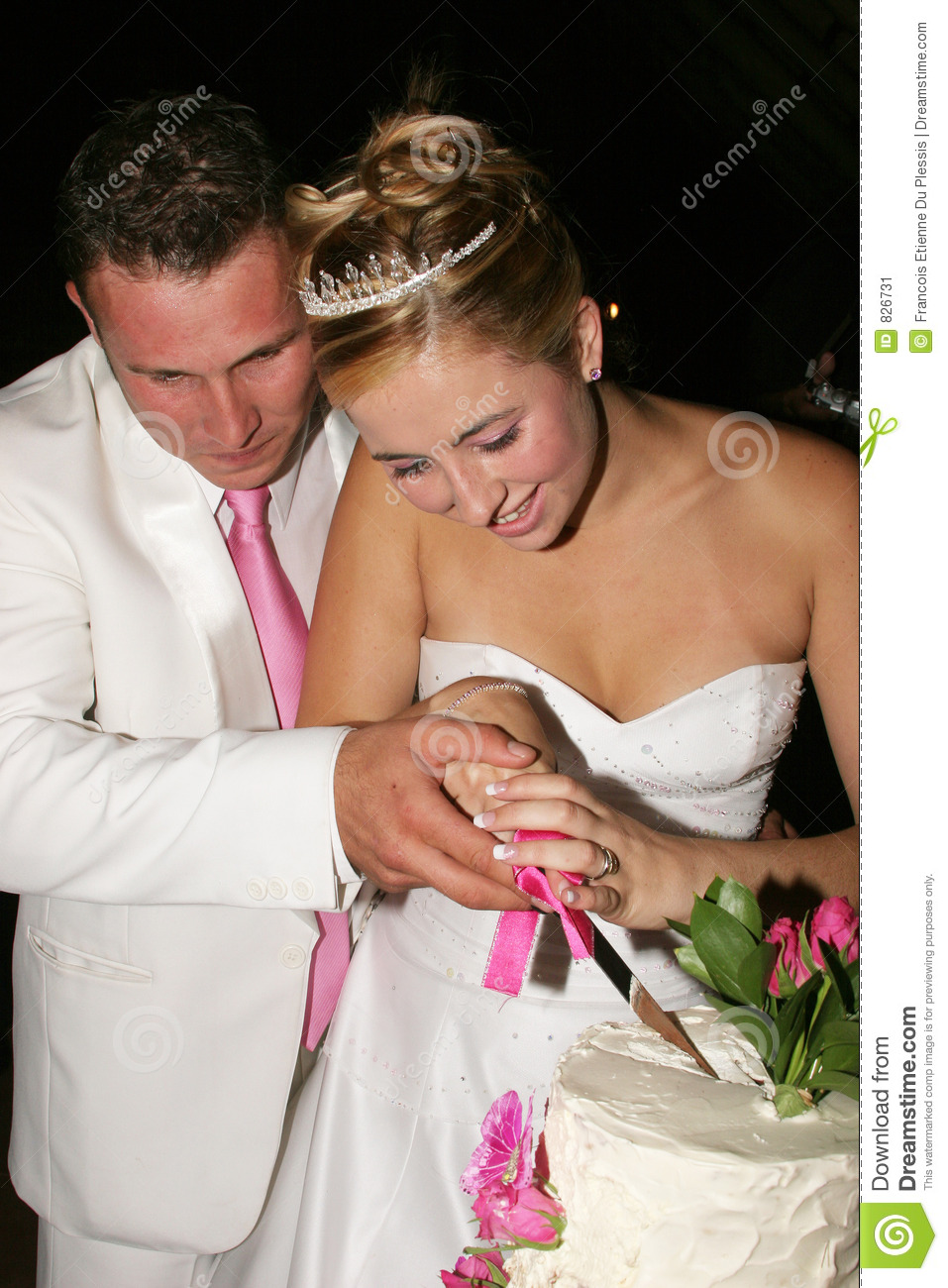 cut wedding cake wedding cutting the cake stock image image 826731 13305