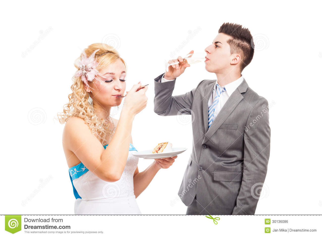 Eating Wedding Cake