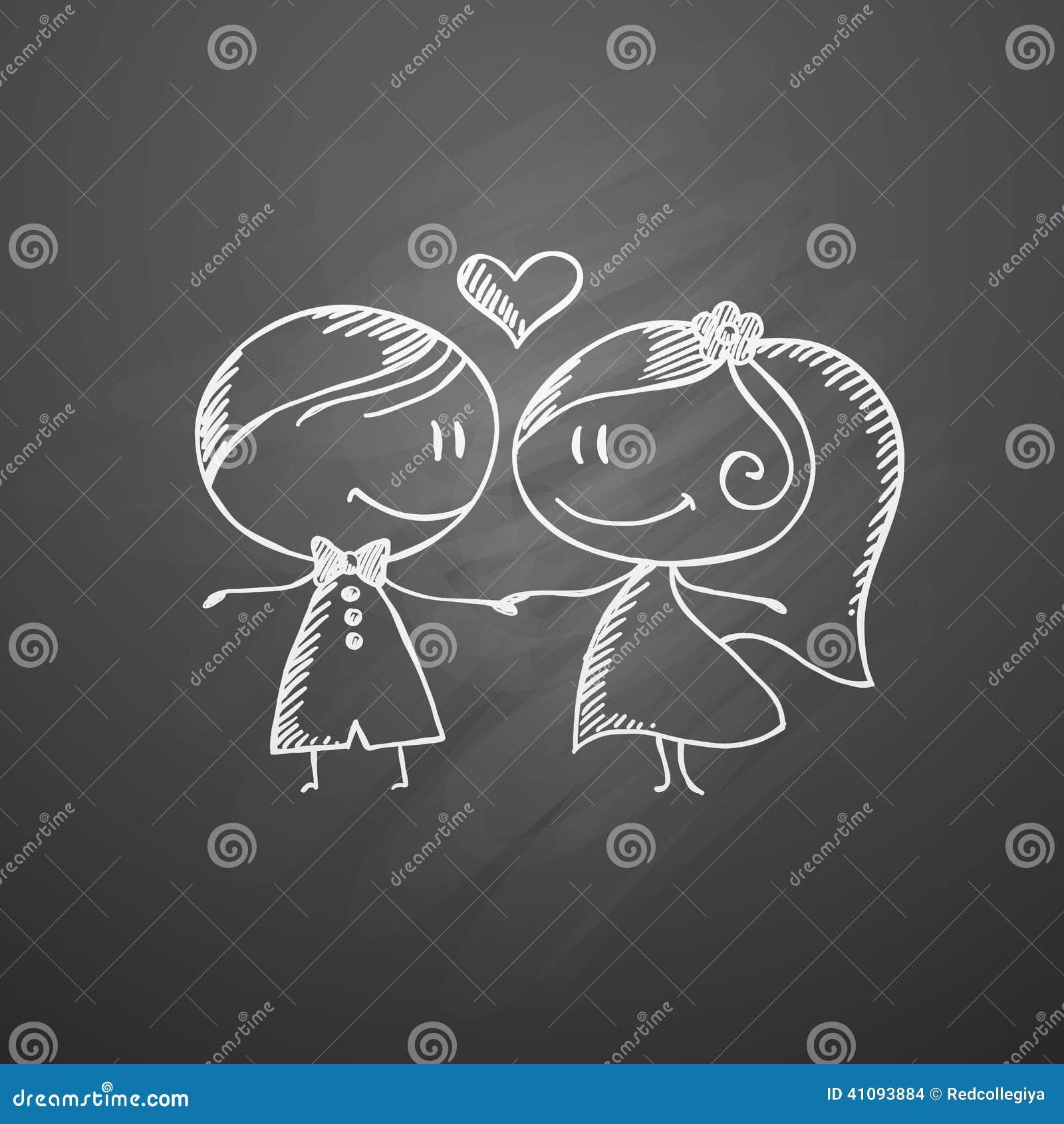 wedding couple stock vector