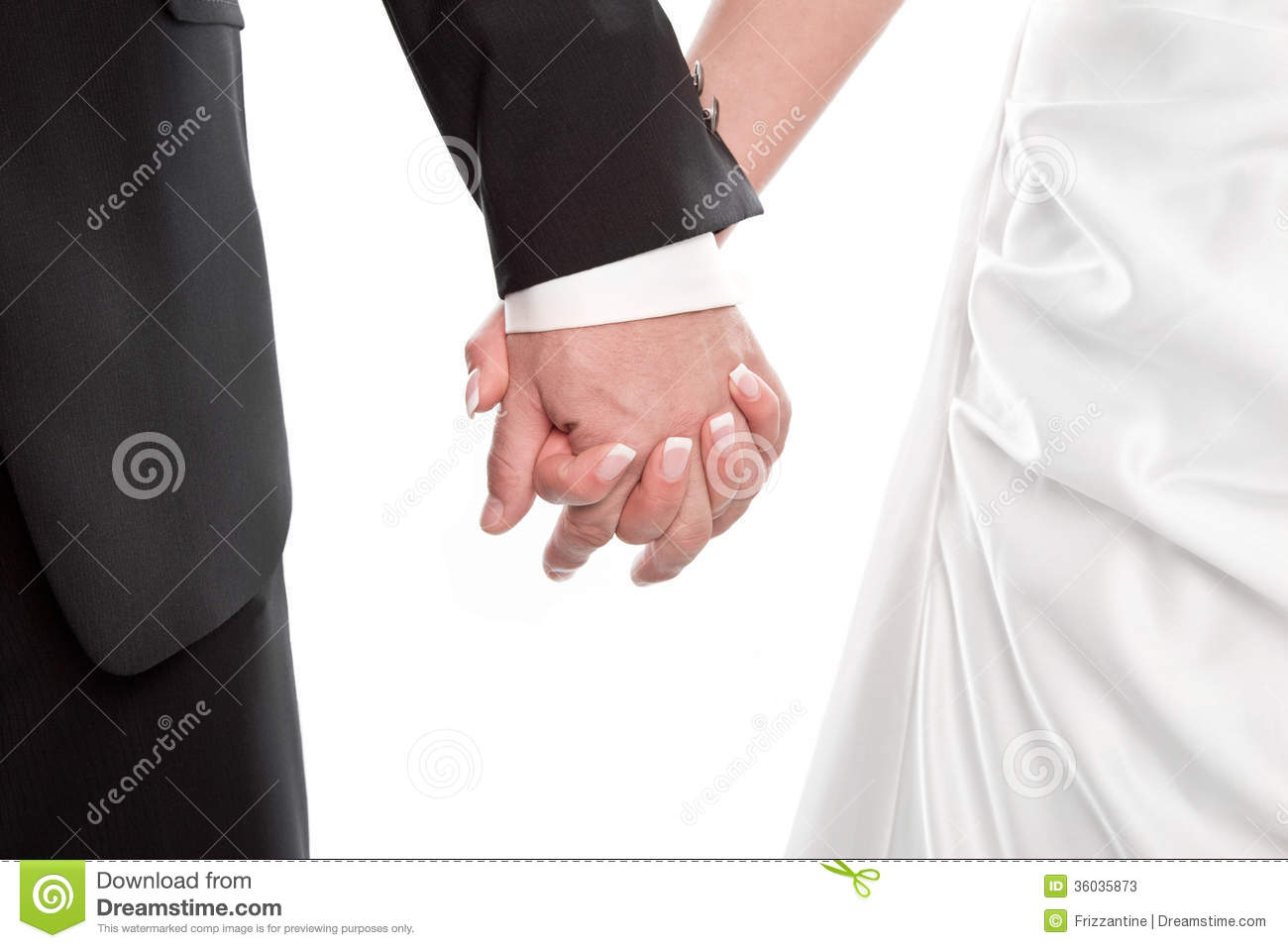 Wedding Couples Holding Hands Wedding couple holding hands