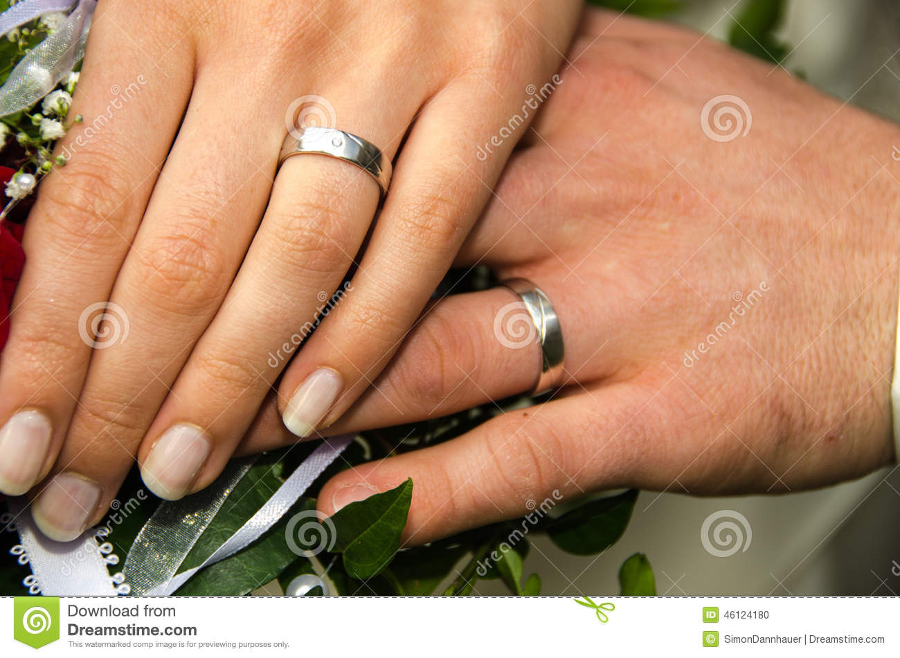 Wedding - Couple Holding Hands Stock Photo - Image of ...