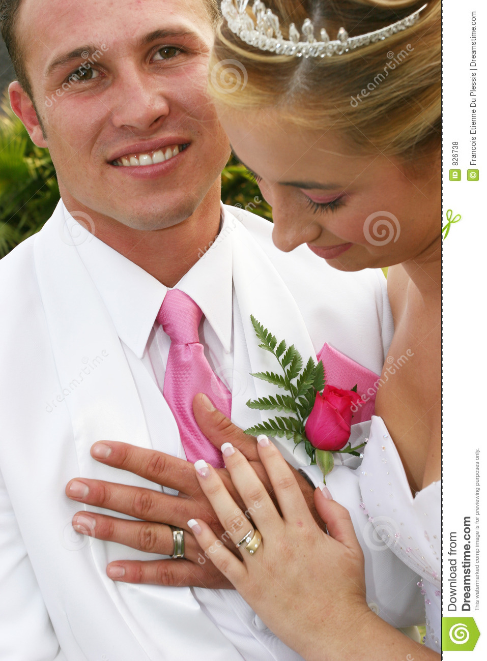 Wedding Couple with rings