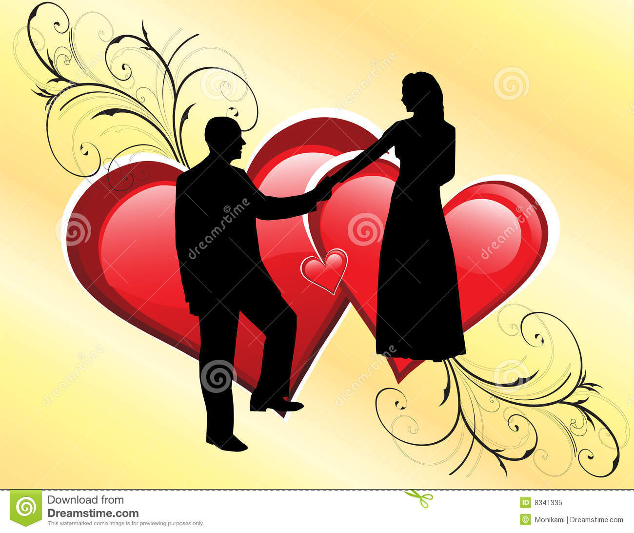 Wedding couple silhouette royalty free stock photo image 8341335