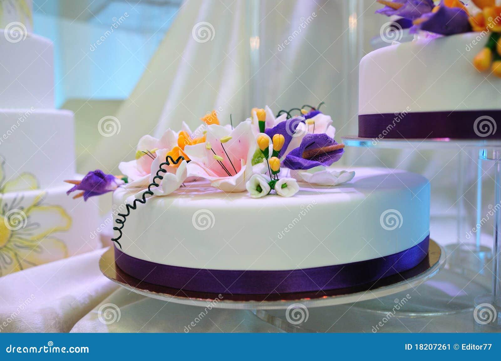 wedding cake with flower decoration stock image image 18207261