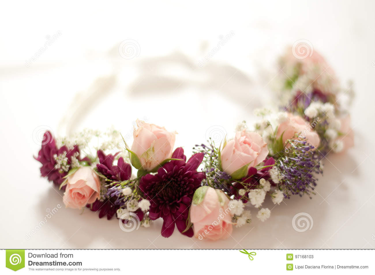 Wedding Crown Flowers Stock Image Image Of Decoration 97168103