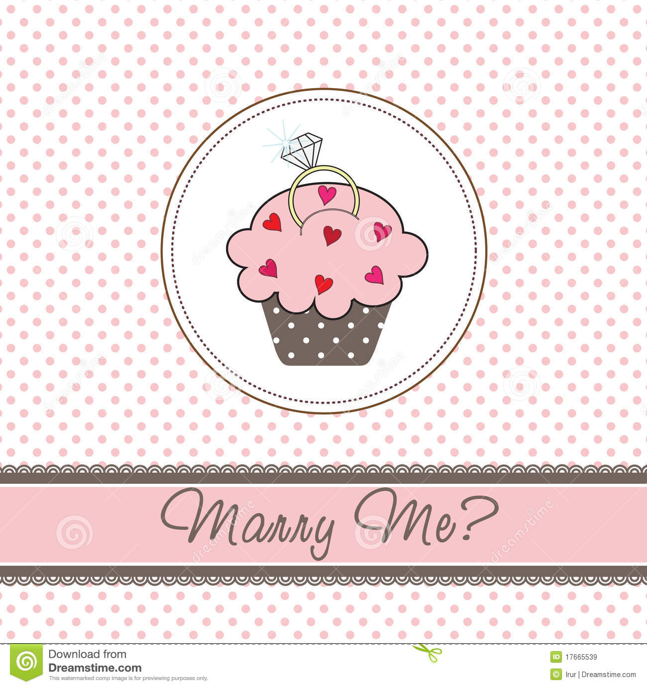 Wedding cupcake card