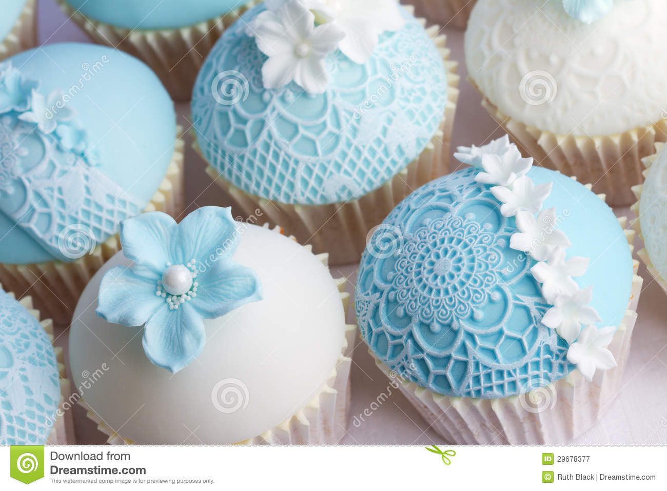 Wedding cupcakes stock image. Image of decorated, overhead - 25348947