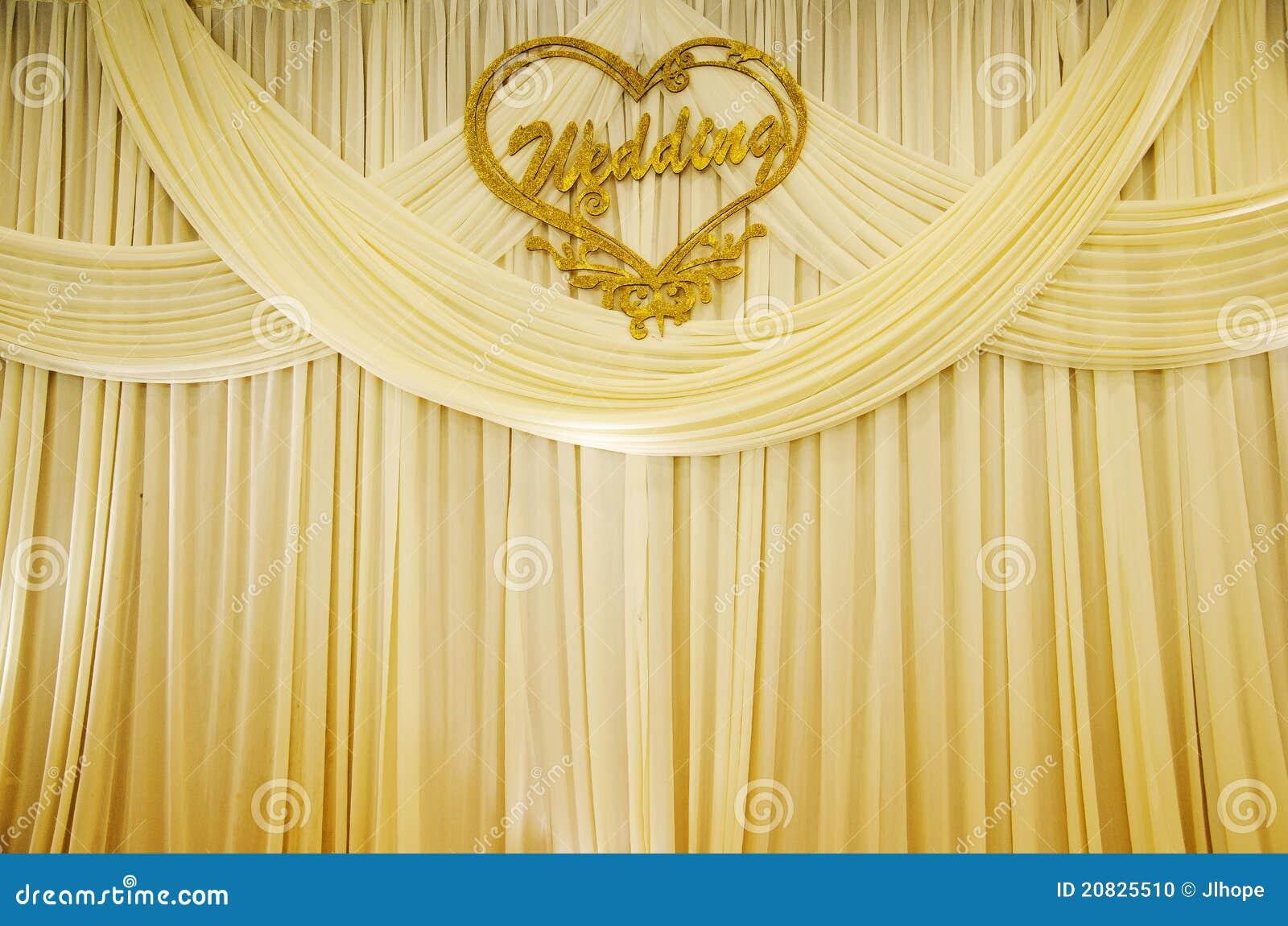 Wedding curtain stock photo image 20825510