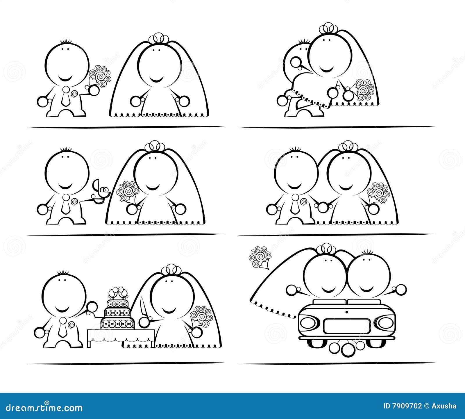 Wedding-day Cartoon Stock Photography