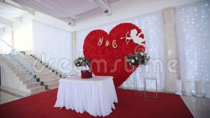 Wedding Decor At The Banquet Stock Video Video Of Luxury