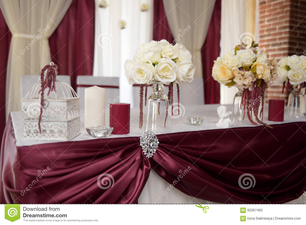 Wedding decor color marsala stock photo image of beautiful download comp junglespirit Image collections