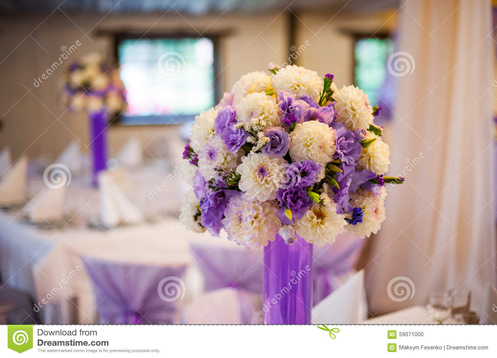Wedding decor table set up stock photo image of glass 59071000 wedding decor table set up junglespirit Gallery