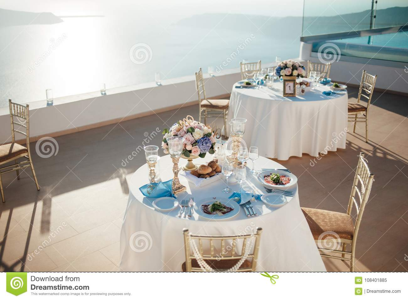 Wedding Table Decor In Gold Color Stock Image Image Of Celebration