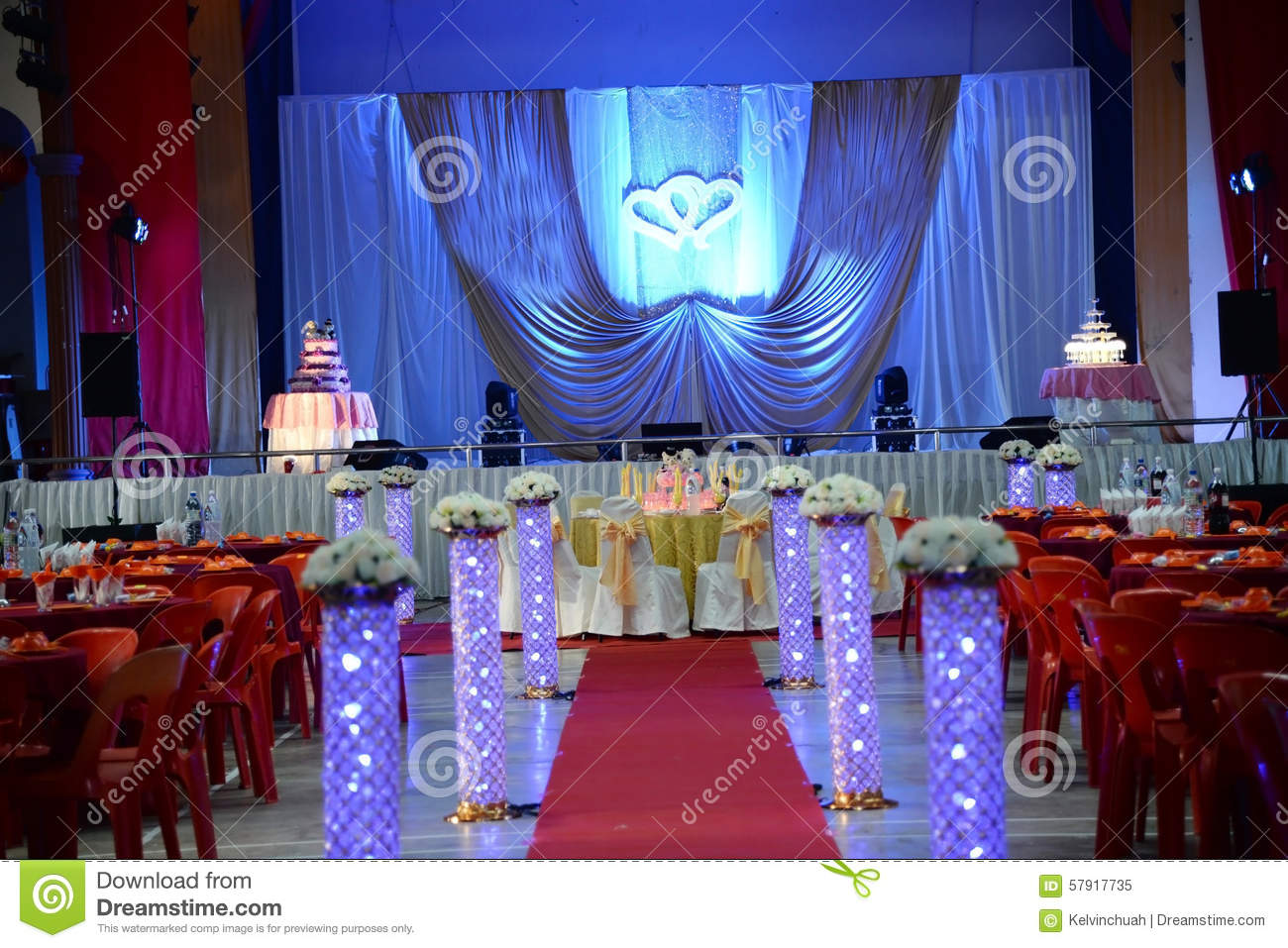 Wedding decoration stock image image of occasion for Background stage decoration