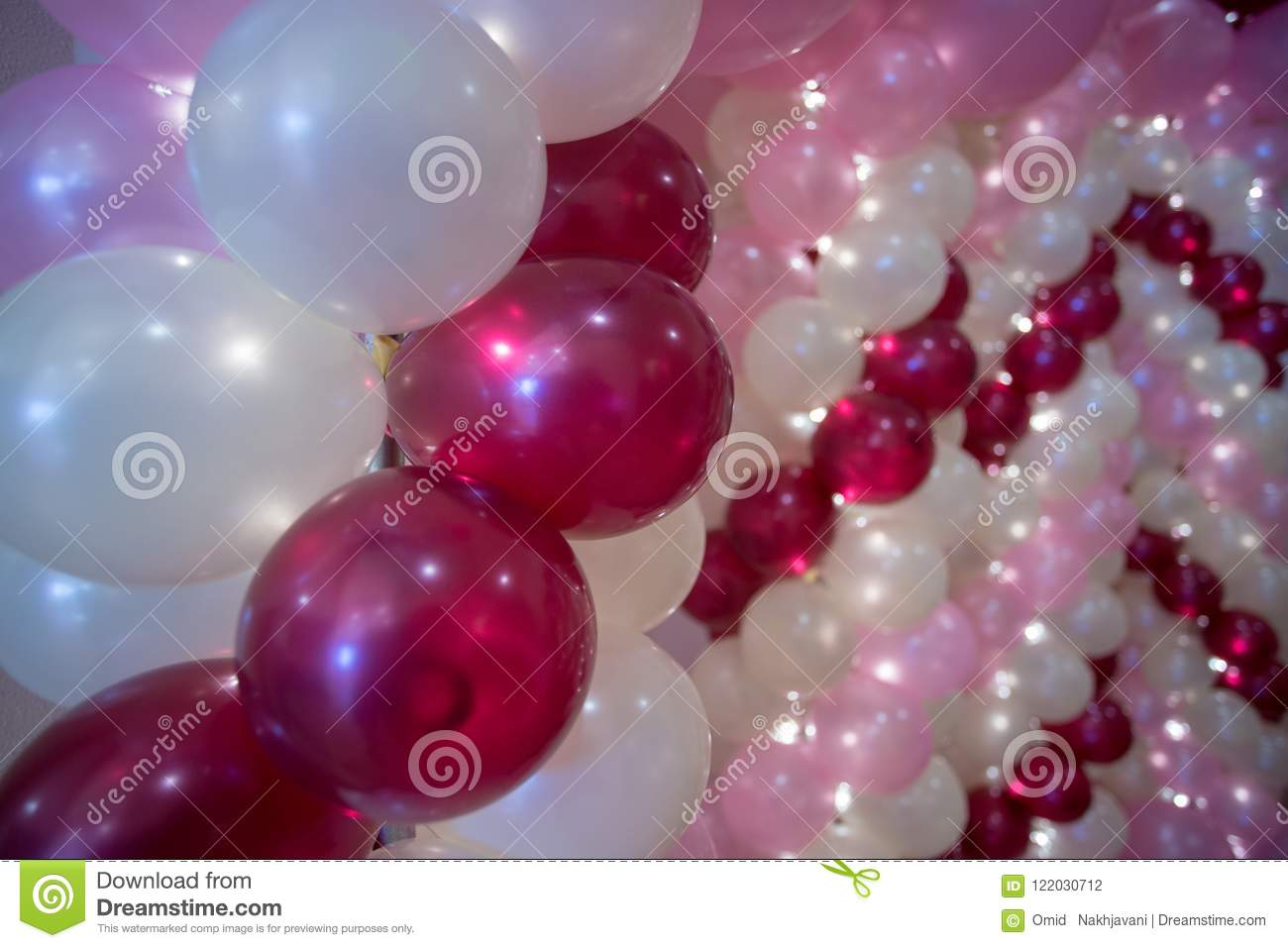 Wedding decoration, colorful balloons