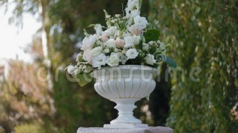 Wedding Decoration Of Natural Flowers Stock Footage Video Of