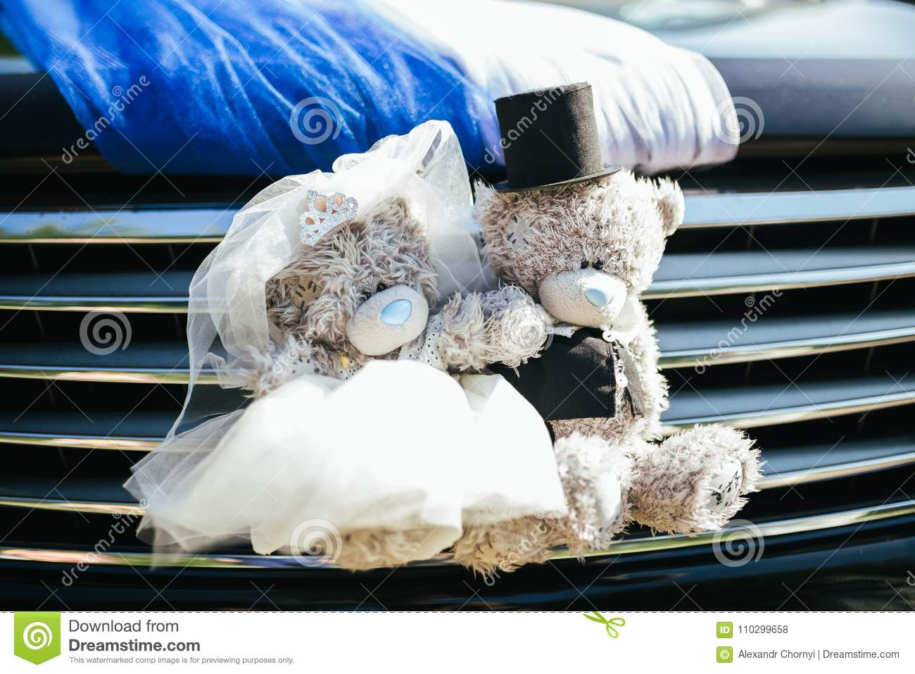 Wedding Decorations For Cars Stock Photo Image Of People Detail