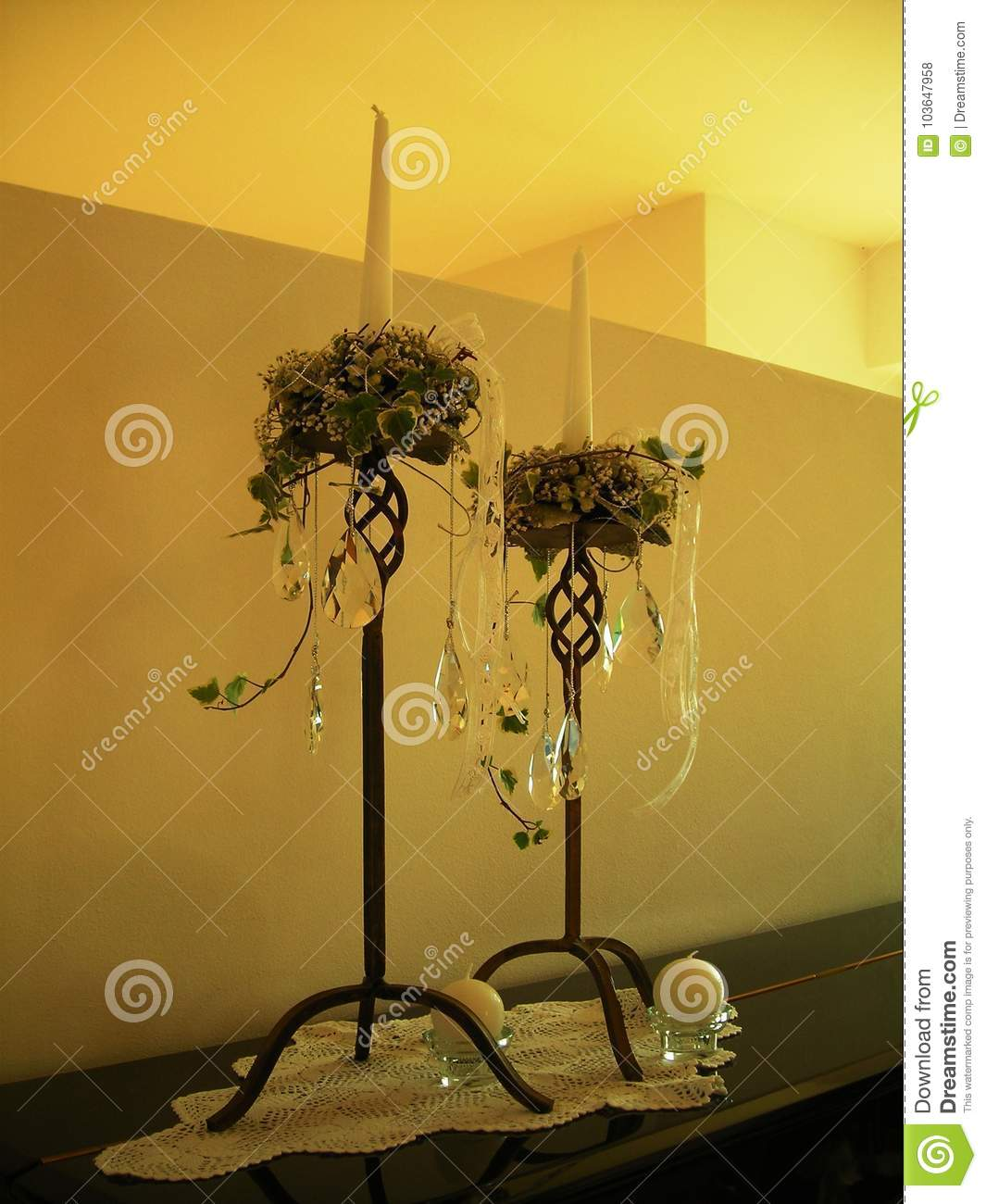 Wedding Decorations In House Stock Illustration