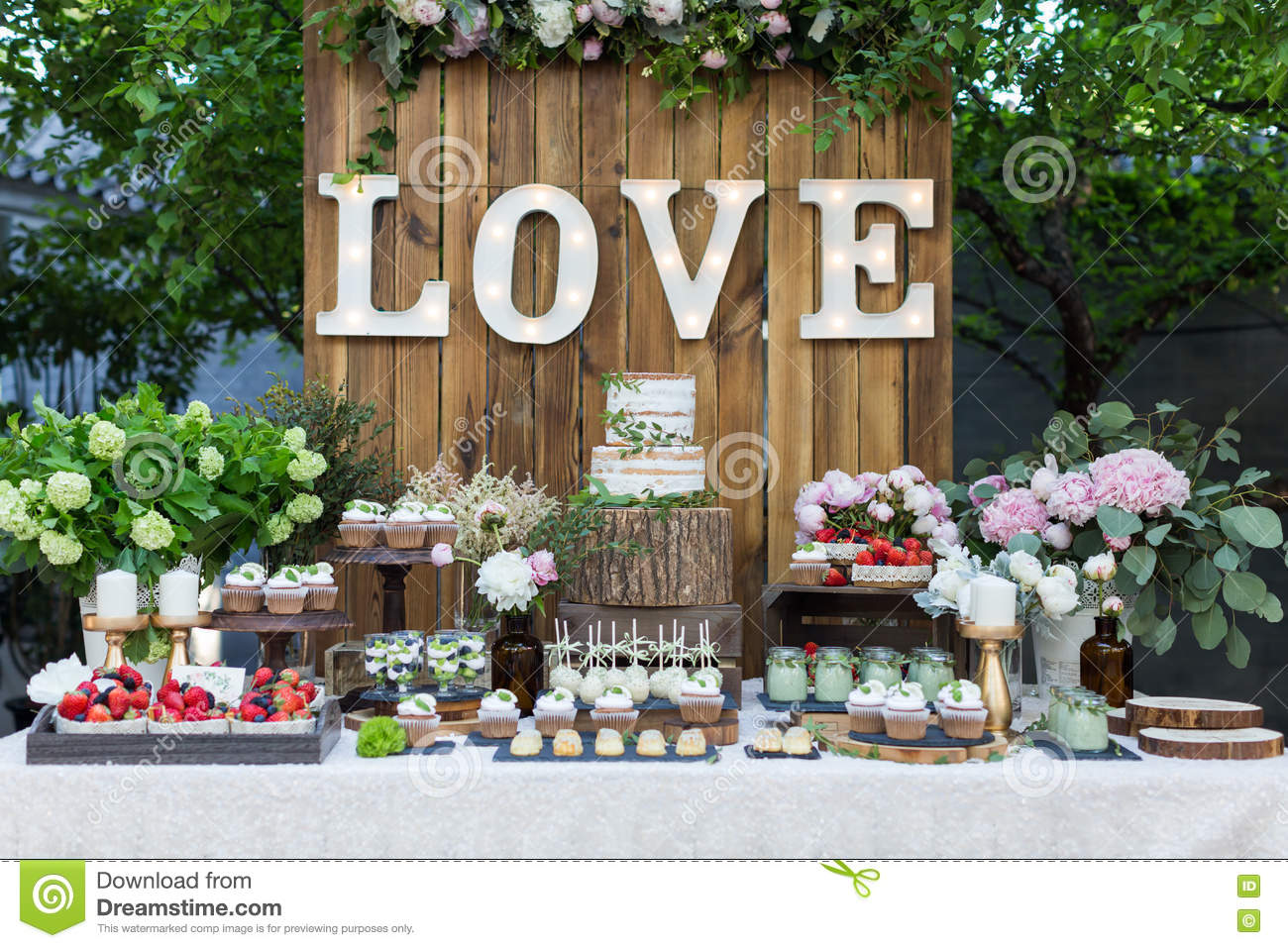 Wedding Dessert Area Stock Image Image Of Candy Floral