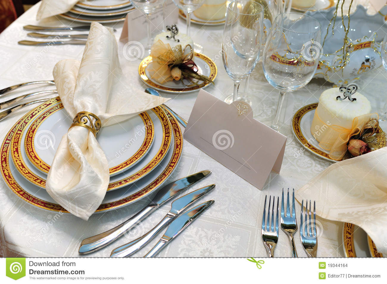 Wedding dinner reception table stock images image 19344164 for Wedding dinner table decoration