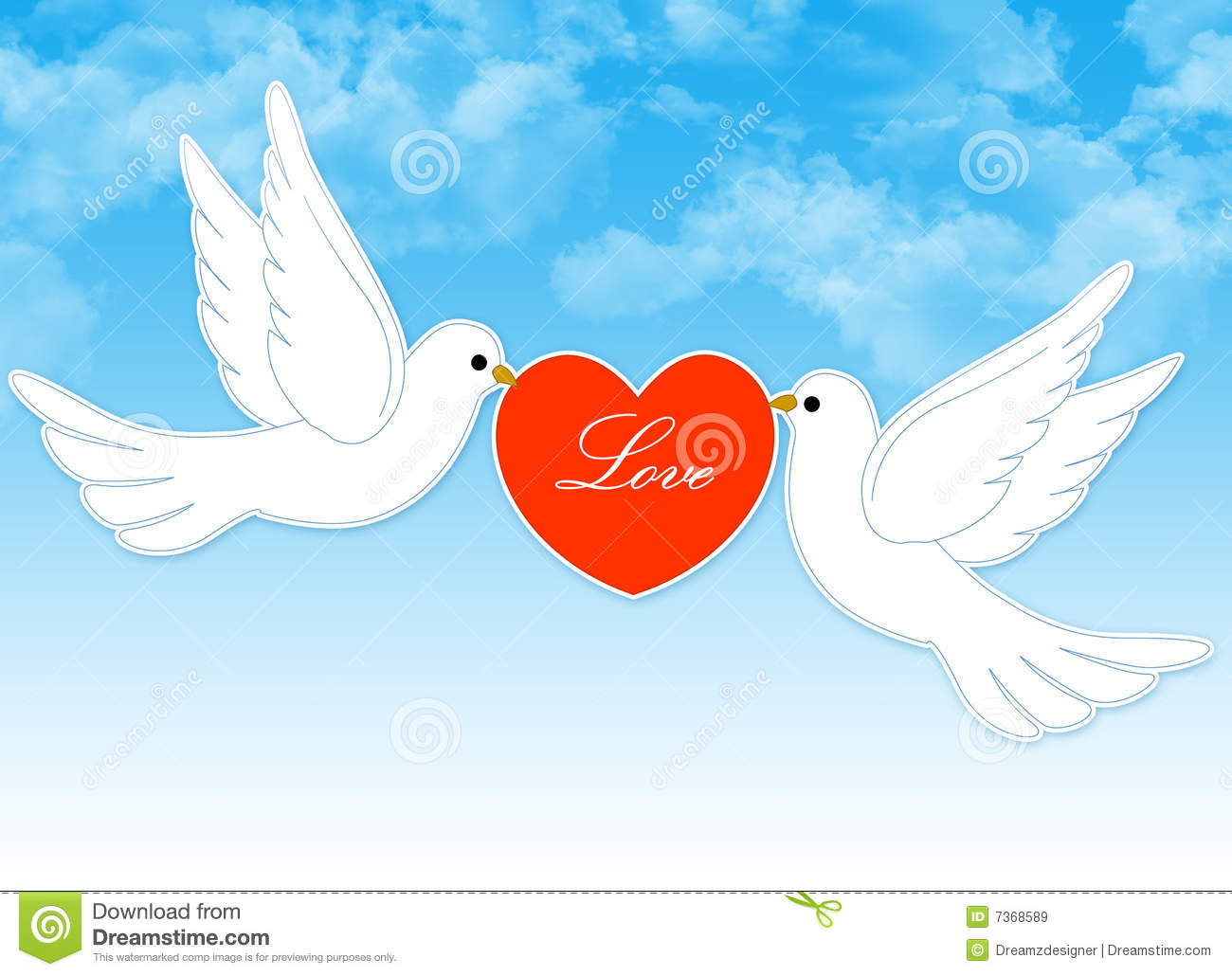 Wedding Dove Couple Royalty Free Stock Images - Image: 7368589