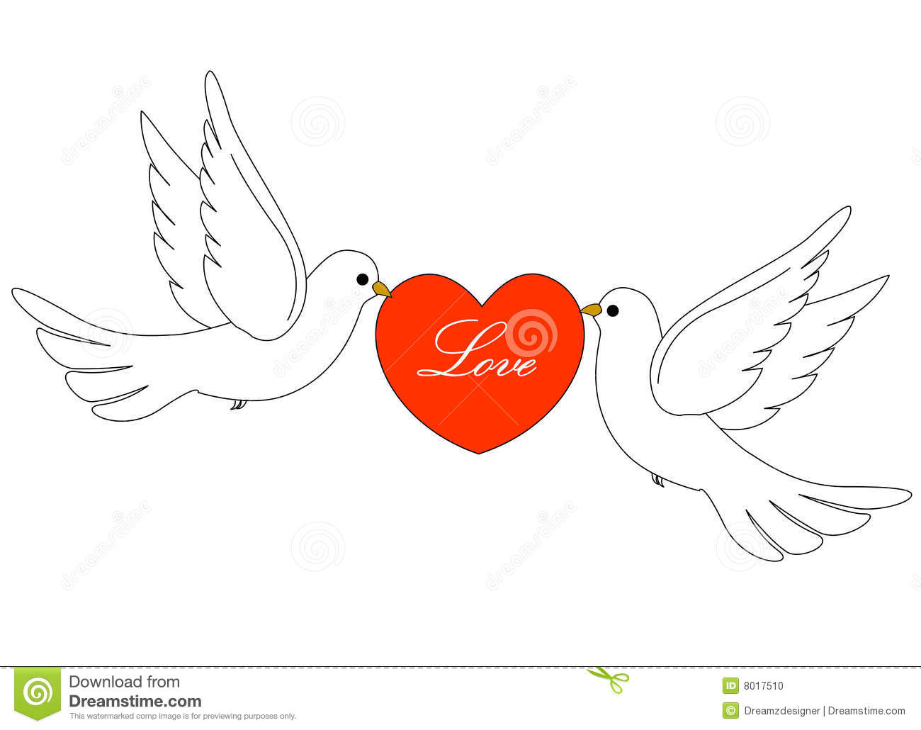 Wedding Doves Stock Photo - Image: 8017510