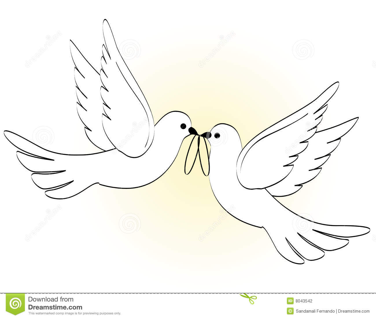 Wedding Doves Stock Vector Illustration Of Gold Marriage