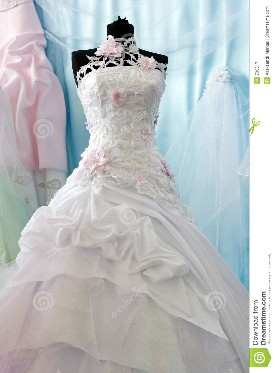 Wedding dress stock image image of sale shoppe gown for Wedding dress in stock