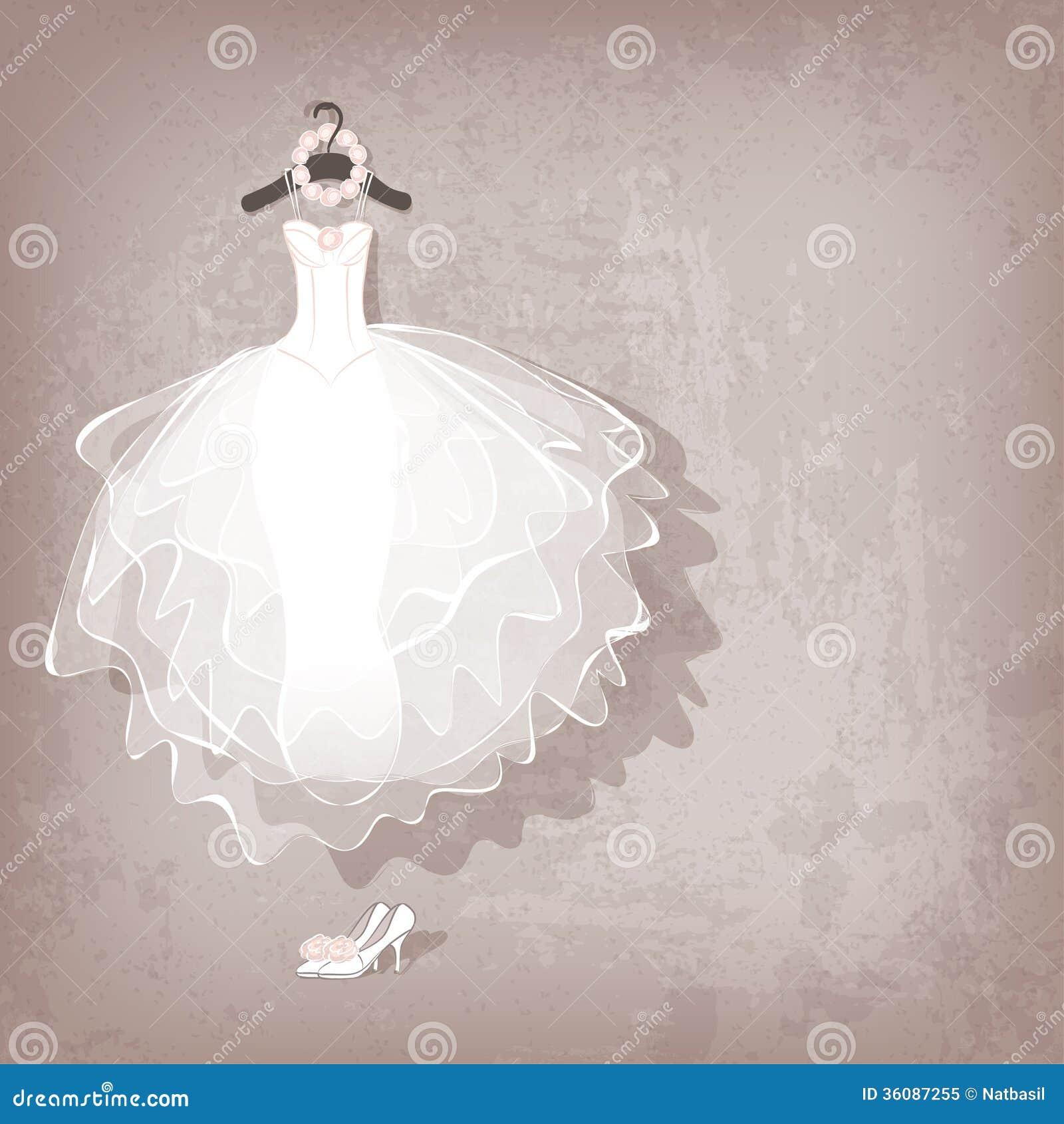 royalty free stock image wedding dress image free wedding dress Wedding dress on grungy background Royalty Free Stock Photo