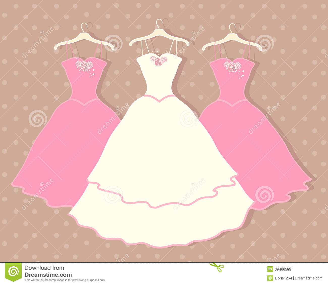 Cartoon Bridesmaid Dresses