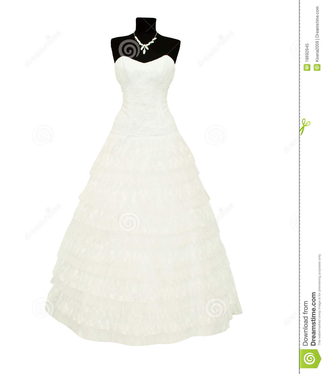 Wedding Dress On A Mannequin Royalty Free Stock Photo
