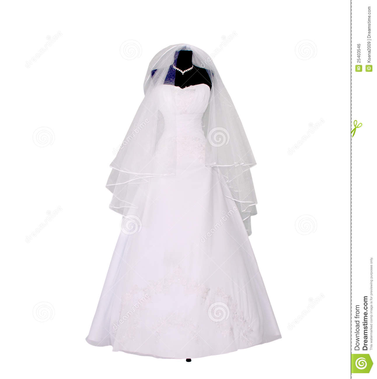 Wedding Dress On Mannequin Royalty Free Stock Image