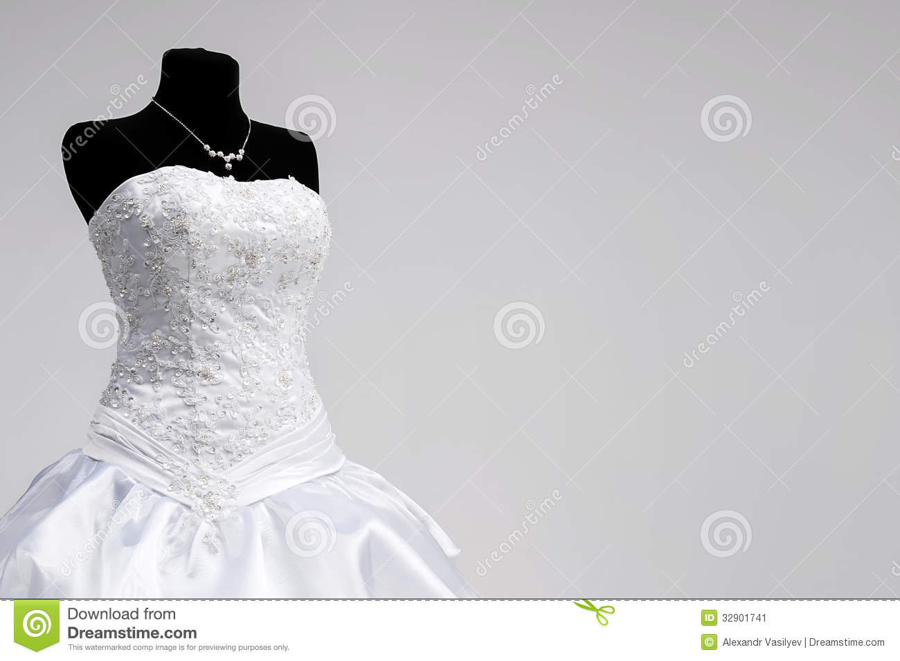 Wedding Dress On A Mannequin Stock Image