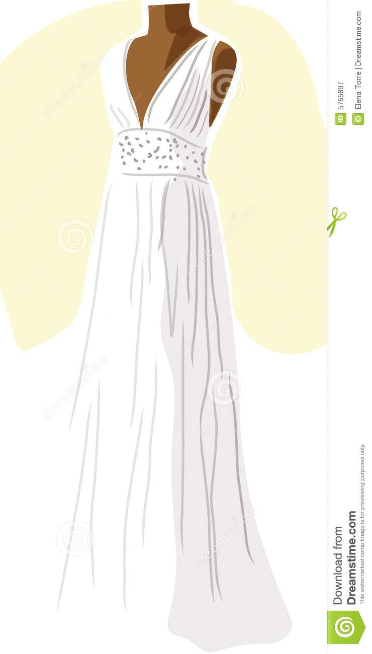 Wedding Dress On Mannequin - Yellow Royalty Free Stock Photography - Image: 5765897